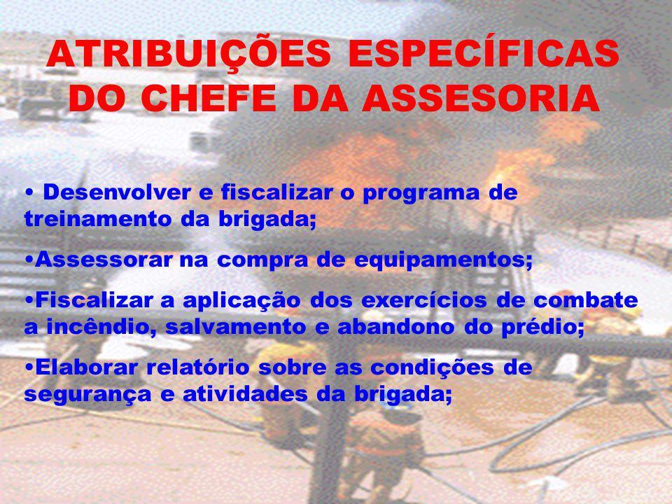 ATRIBUIÇÕES ESPECÍFICAS DO CHEFE DA ASSESORIA