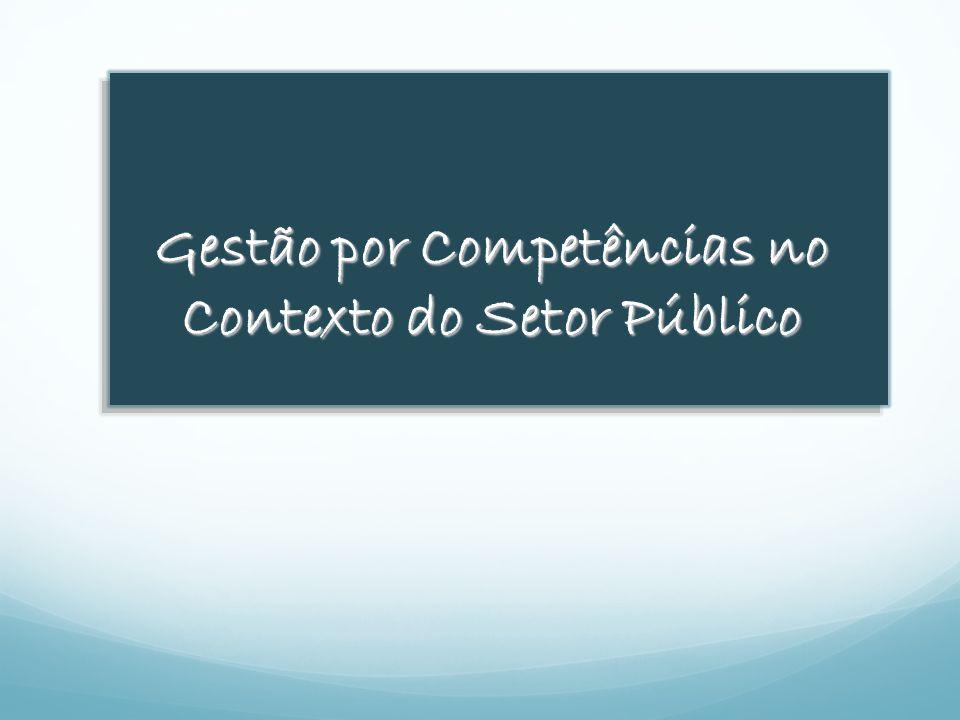 Gestão por Competências no Contexto do Setor Público