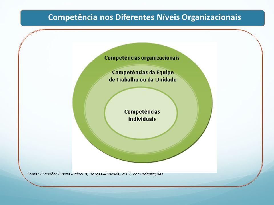 Competência nos Diferentes Níveis Organizacionais
