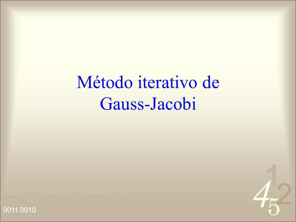 Método iterativo de Gauss-Jacobi