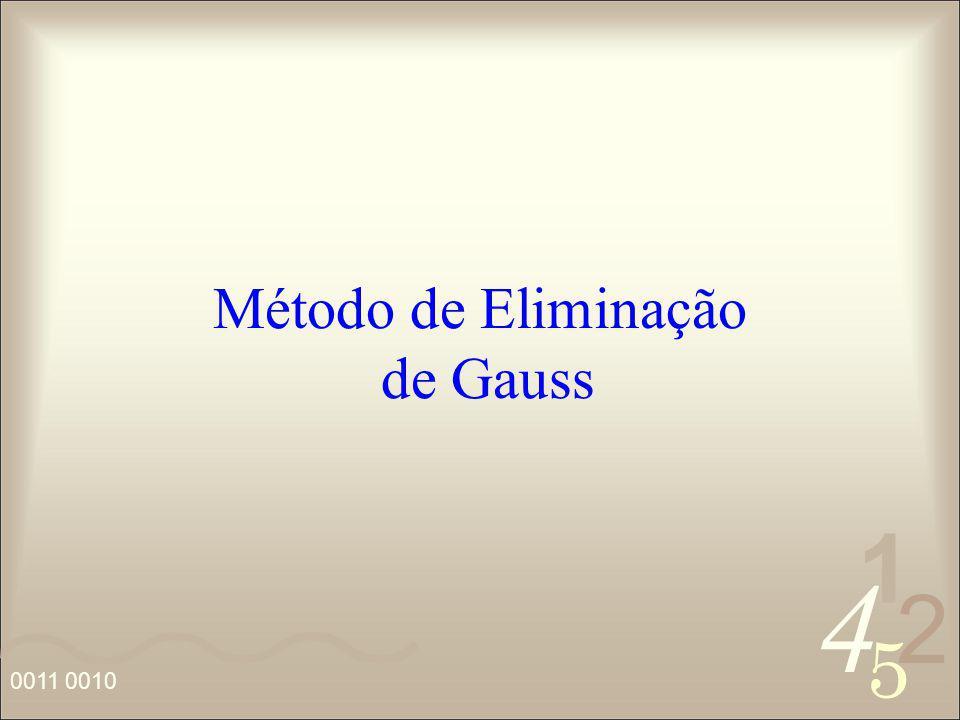 Método de Eliminação de Gauss