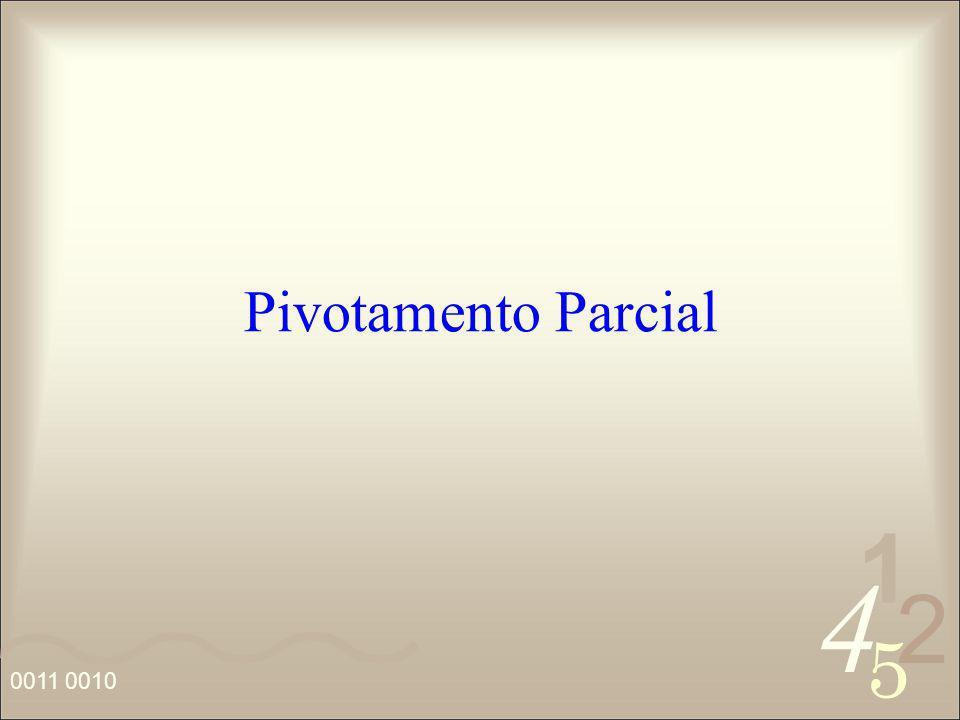 Pivotamento Parcial