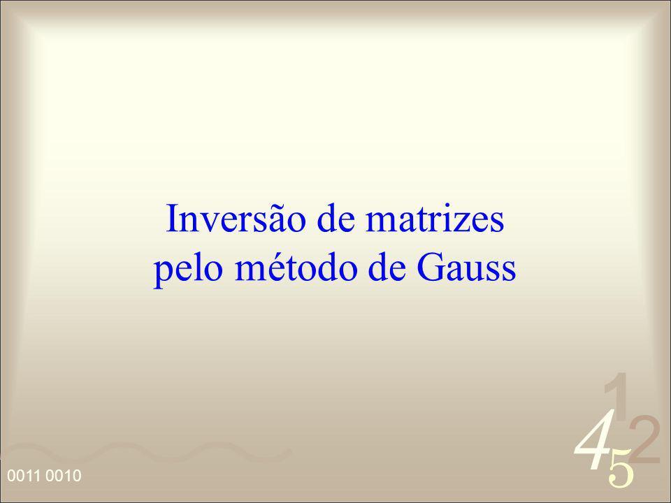 Inversão de matrizes pelo método de Gauss