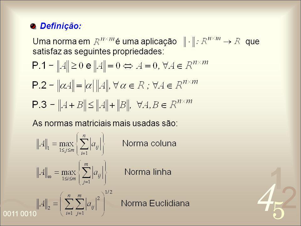 Definição: Uma norma em é uma aplicação que satisfaz as seguintes propriedades: