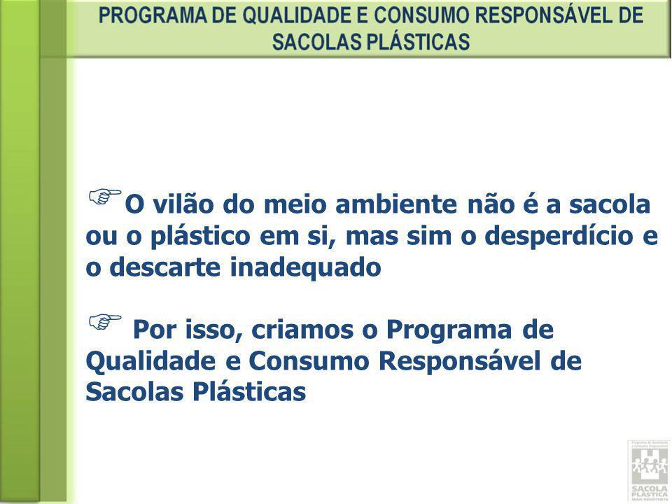 O vilão do meio ambiente não é a sacola ou o plástico em si, mas sim o desperdício e o descarte inadequado