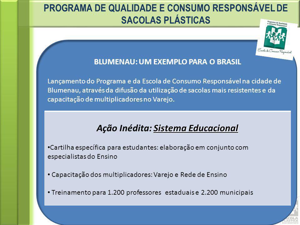 PROGRAMA DE QUALIDADE E CONSUMO RESPONSÁVEL DE SACOLAS PLÁSTICAS