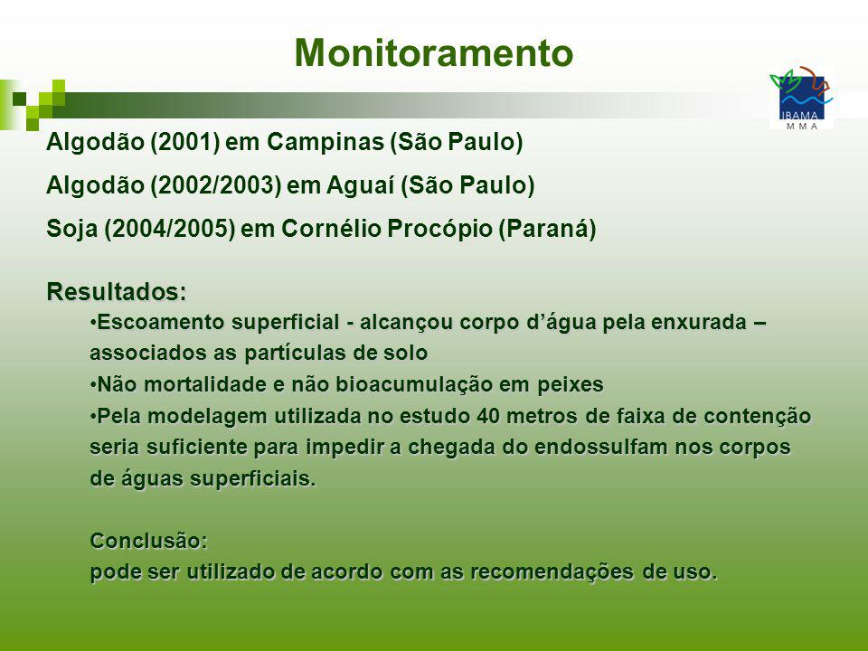 Monitoramento Algodão (2001) em Campinas (São Paulo)