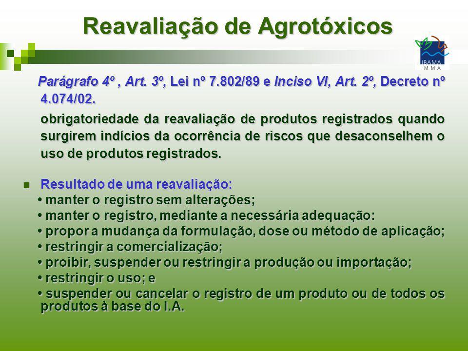 Reavaliação de Agrotóxicos