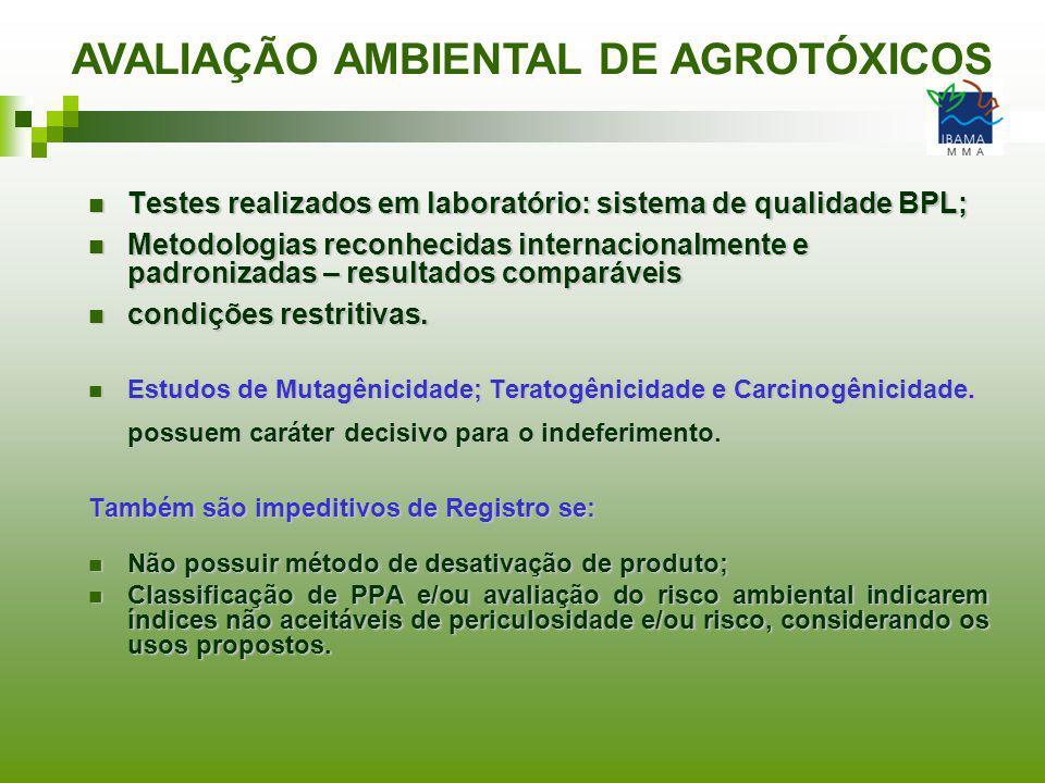 AVALIAÇÃO AMBIENTAL DE AGROTÓXICOS