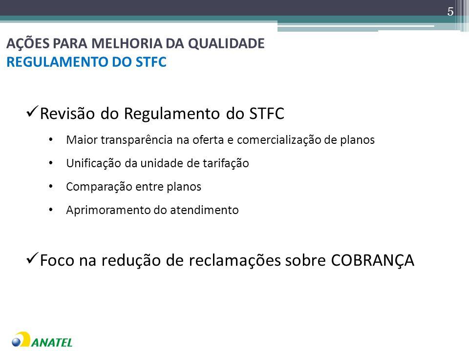 AÇÕES PARA MELHORIA DA QUALIDADE REGULAMENTO DO STFC