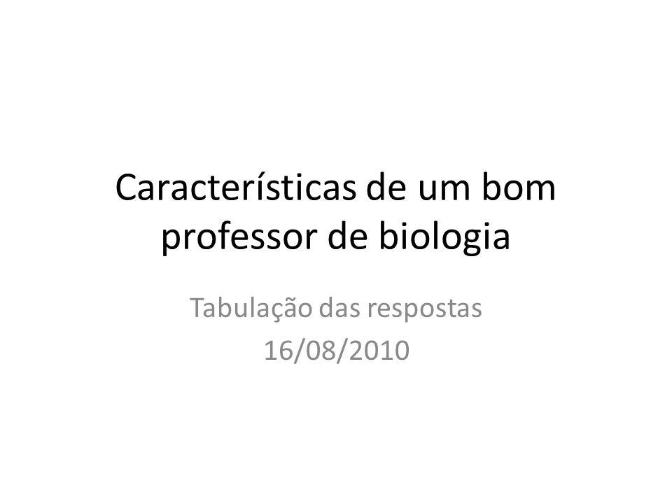 Características de um bom professor de biologia