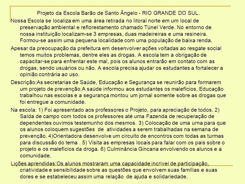 Projeto da Escola Barão de Santo Ângelo - RIO GRANDE DO SUL.