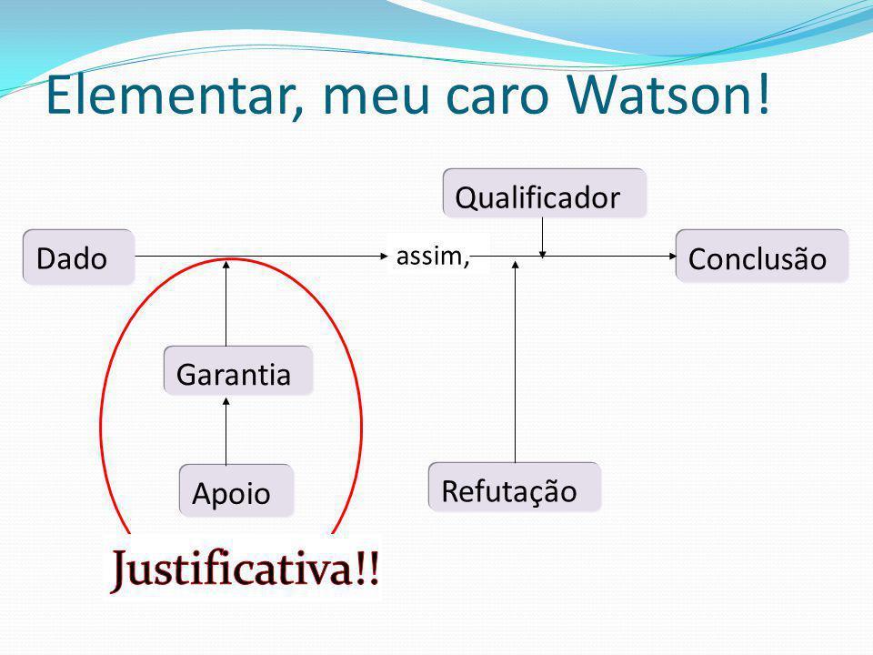 Elementar, meu caro Watson!