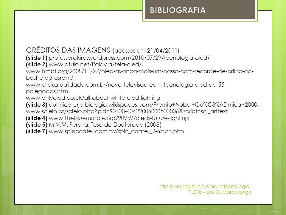 BIBLIOGRAFIA CRÉDITOS DAS IMAGENS (acessos em 21/04/2011)