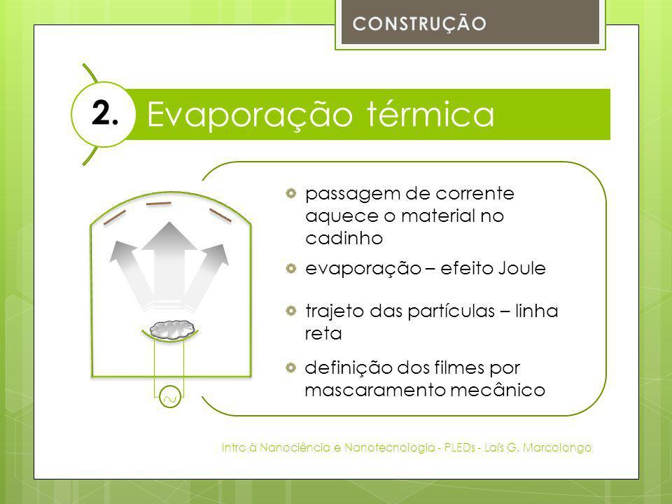 Evaporação térmica 2. CONSTRUÇÃO