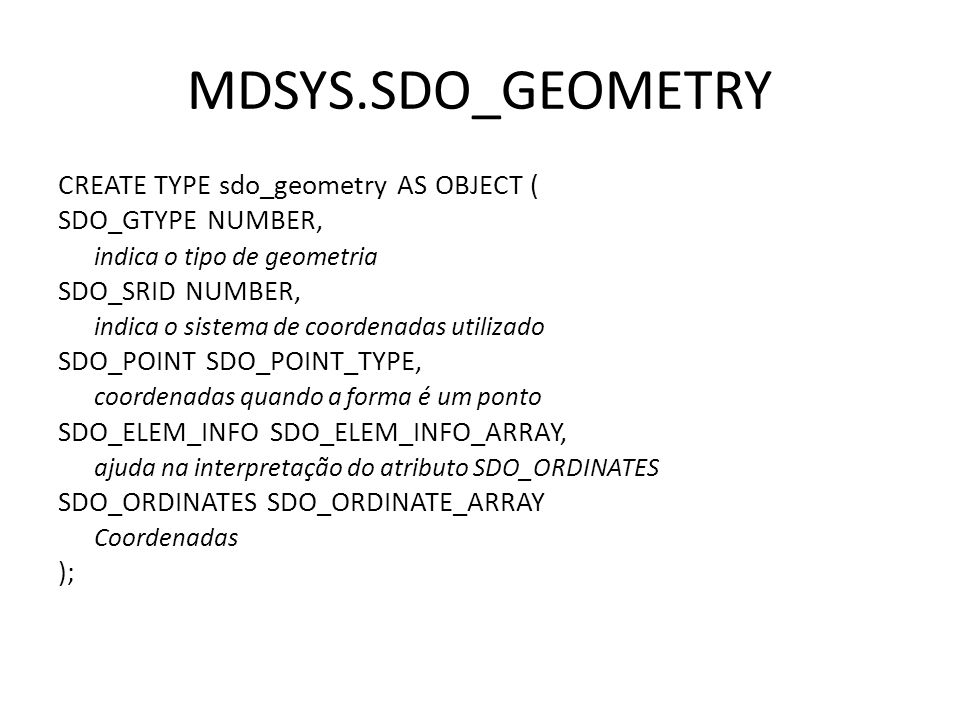 MDSYS.SDO_GEOMETRY