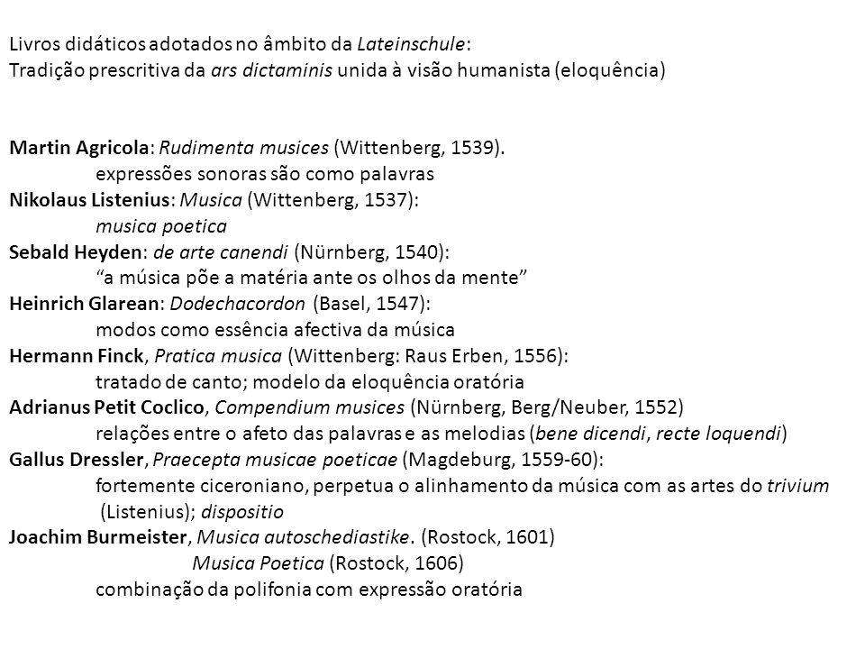 Livros didáticos adotados no âmbito da Lateinschule: