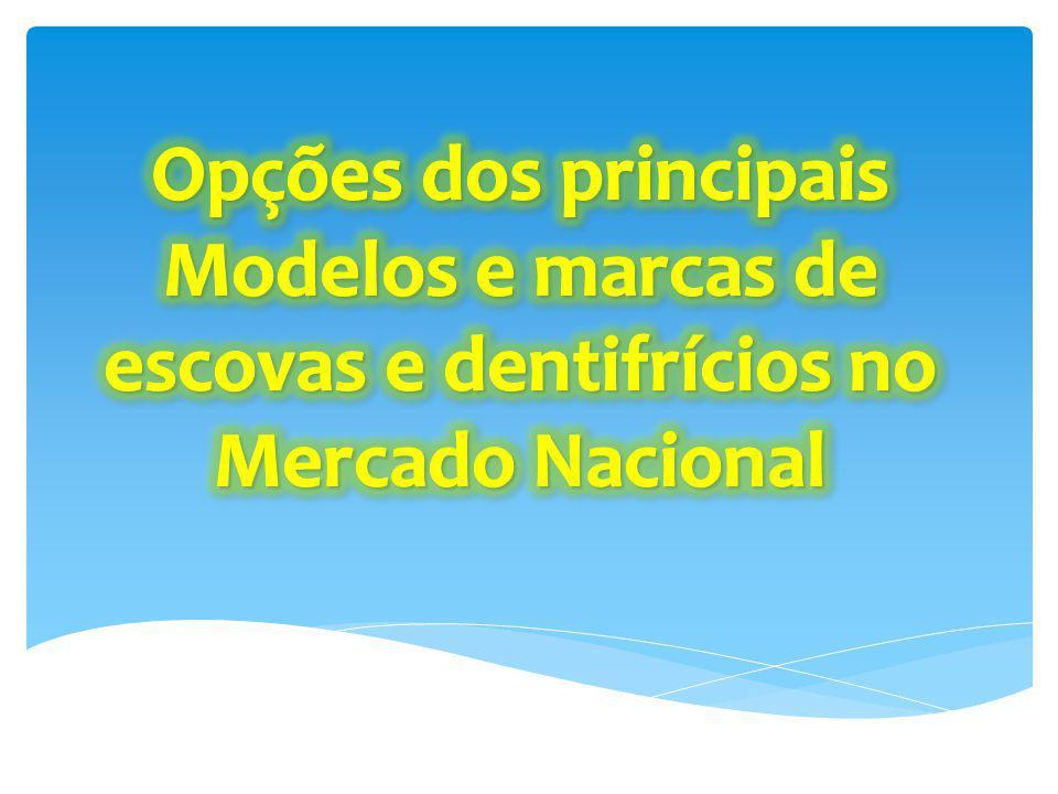 Opções dos principais Modelos e marcas de escovas e dentifrícios no Mercado Nacional