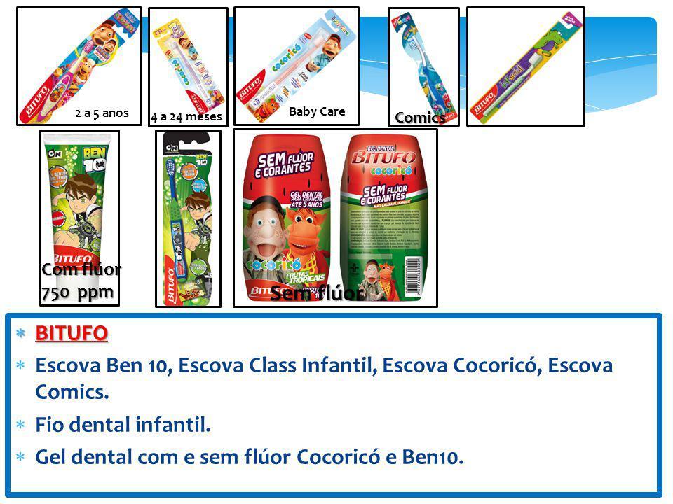 Escova Ben 10, Escova Class Infantil, Escova Cocoricó, Escova Comics.