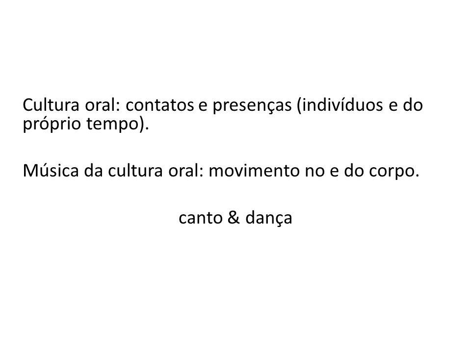 Cultura oral: contatos e presenças (indivíduos e do próprio tempo)