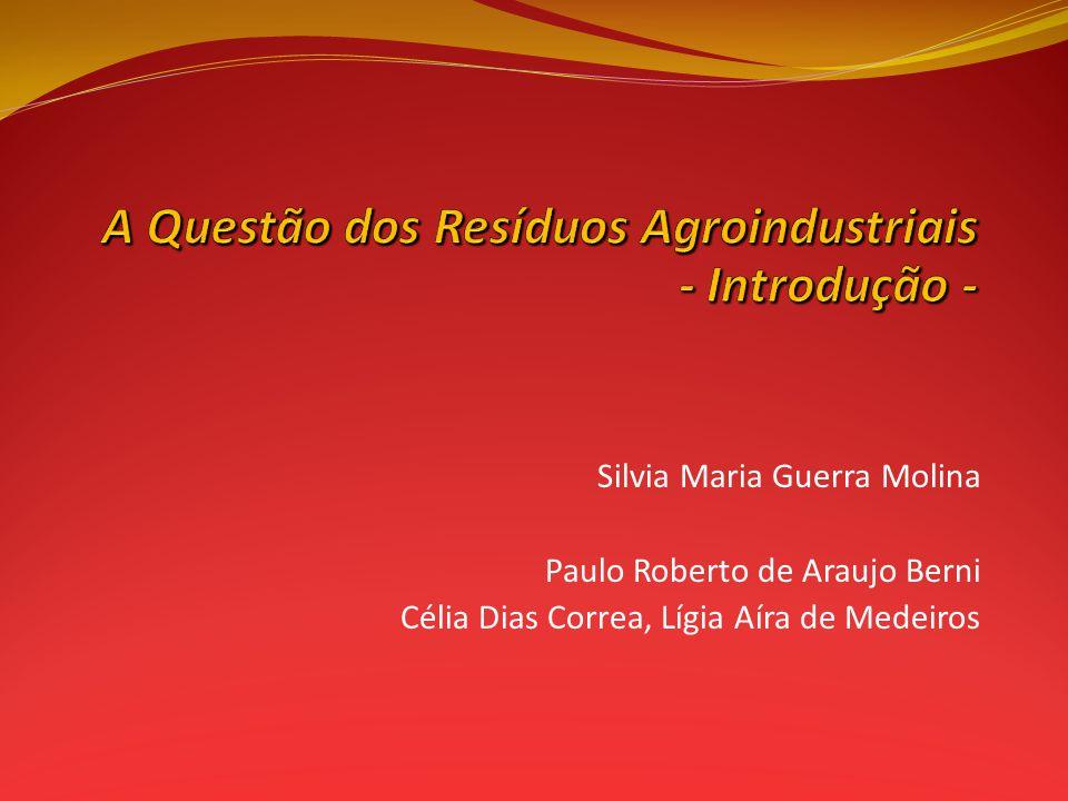 A Questão dos Resíduos Agroindustriais - Introdução -