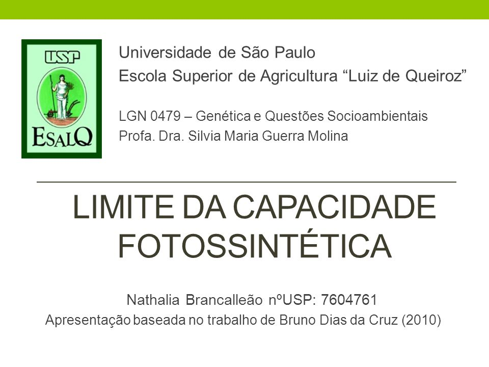 Limite da Capacidade Fotossintética
