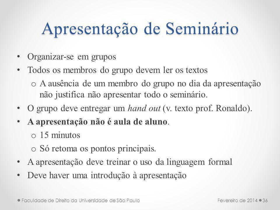 Apresentação de Seminário