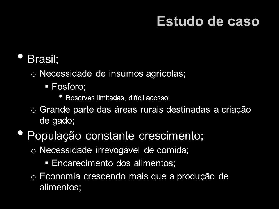 Estudo de caso Brasil; População constante crescimento;