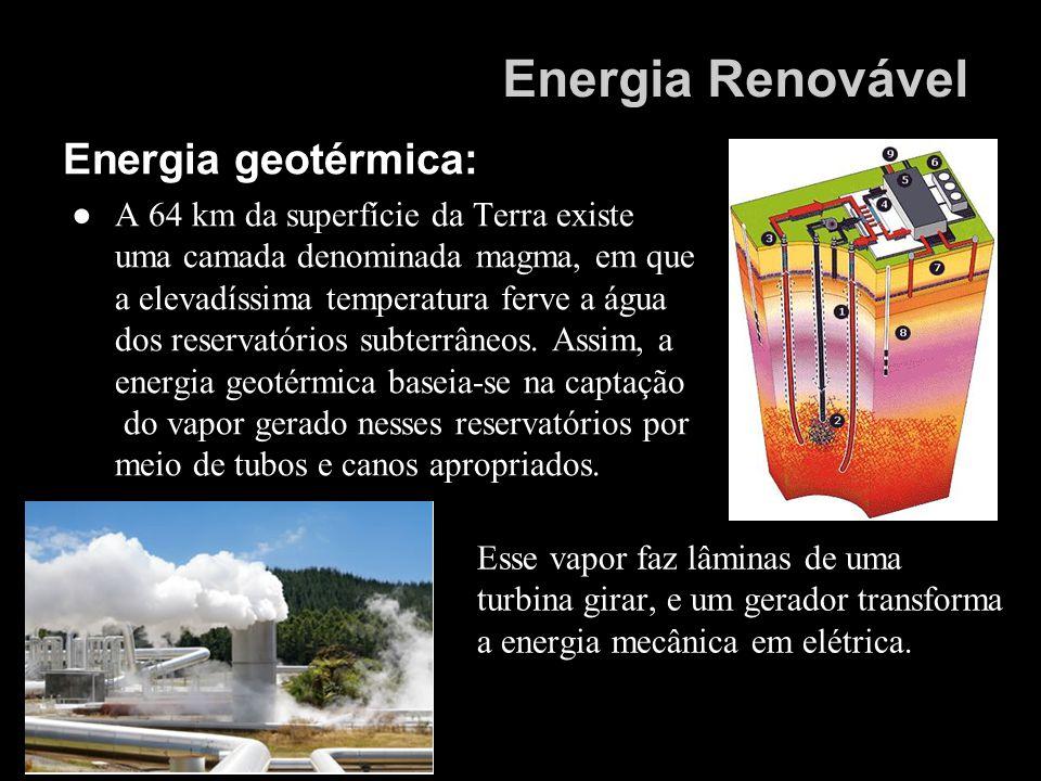 Energia Renovável Energia geotérmica: