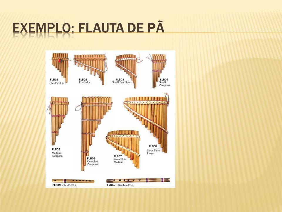 Exemplo: Flauta de Pã