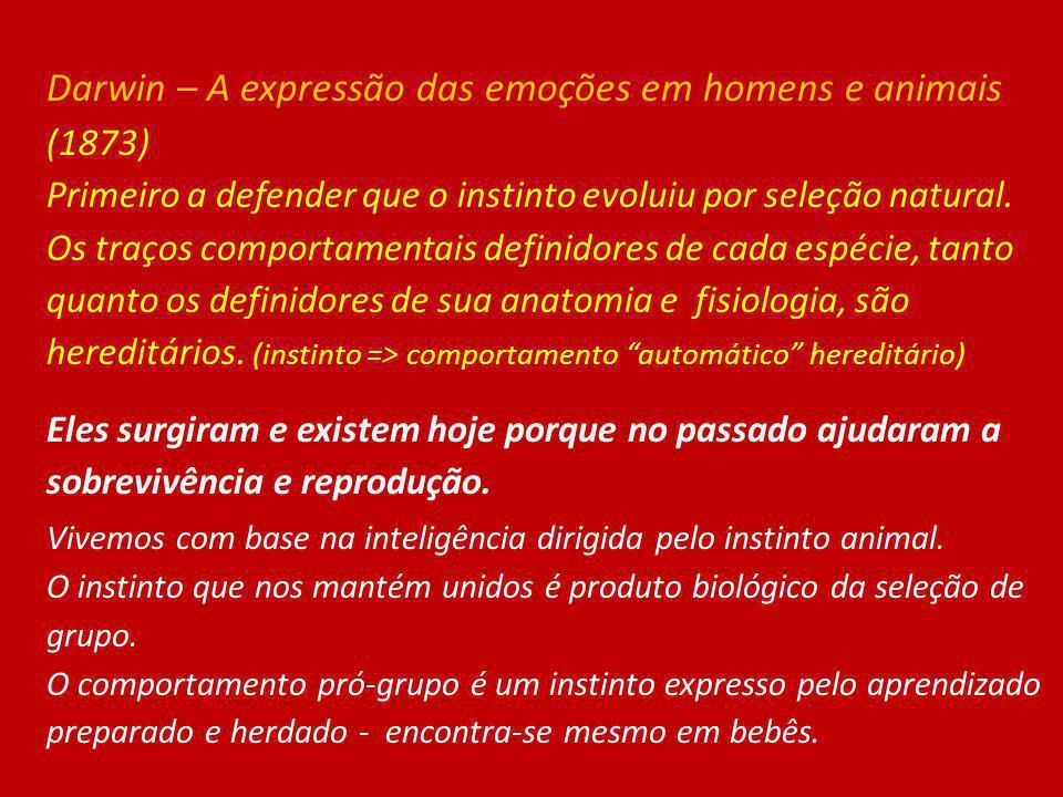Darwin – A expressão das emoções em homens e animais