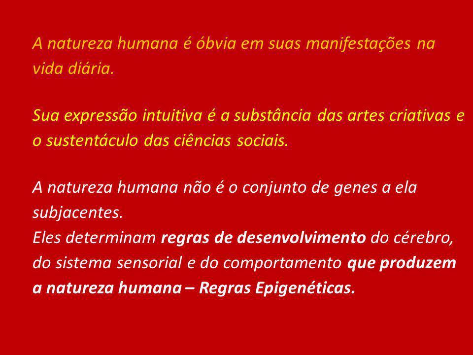 A natureza humana é óbvia em suas manifestações na vida diária.