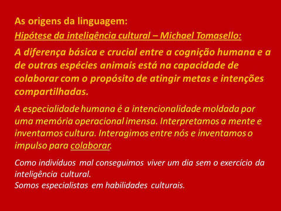 As origens da linguagem: