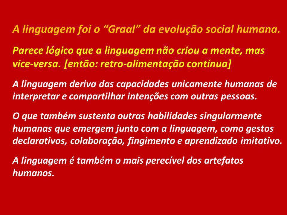 A linguagem foi o Graal da evolução social humana.