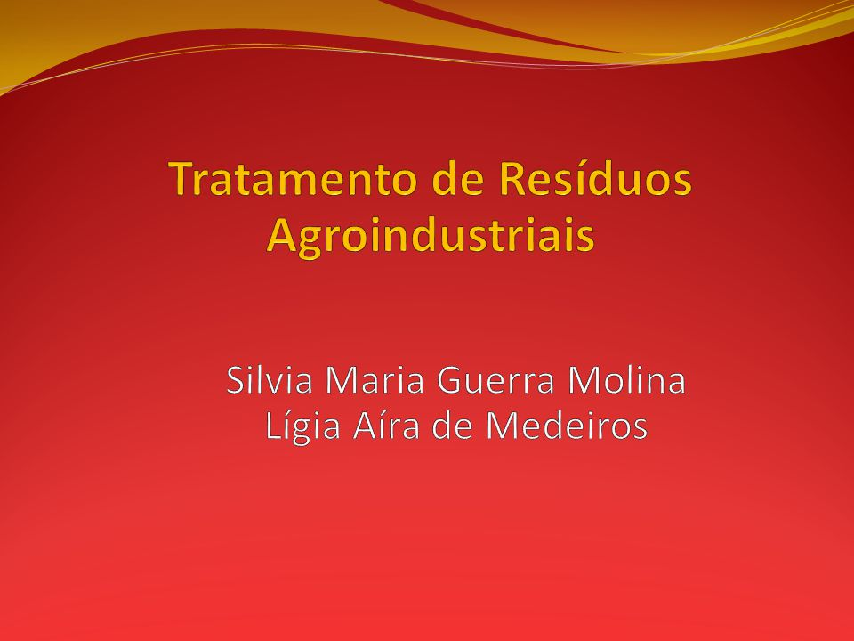 Tratamento de Resíduos Agroindustriais