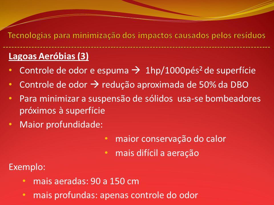 Controle de odor e espuma  1hp/1000pés2 de superfície