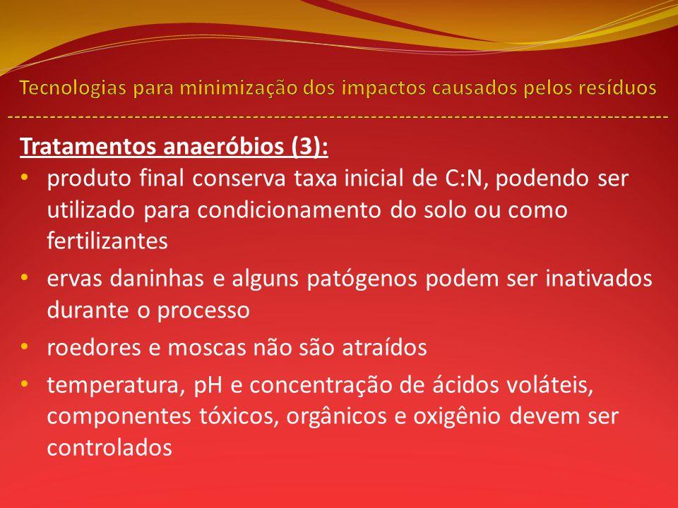 Tratamentos anaeróbios (3):
