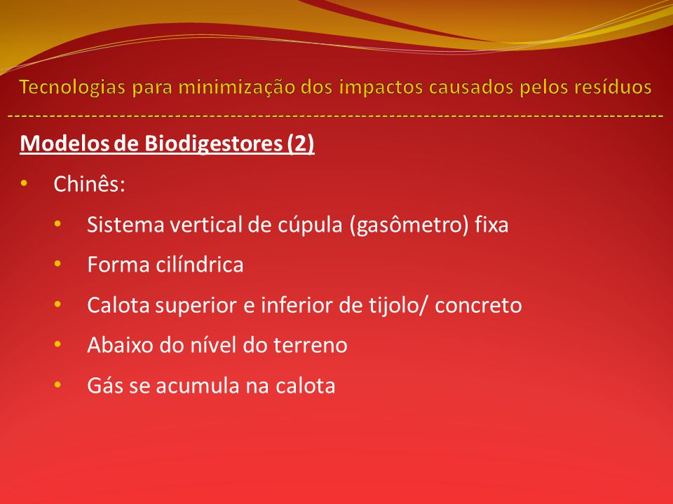 Modelos de Biodigestores (2) Chinês: