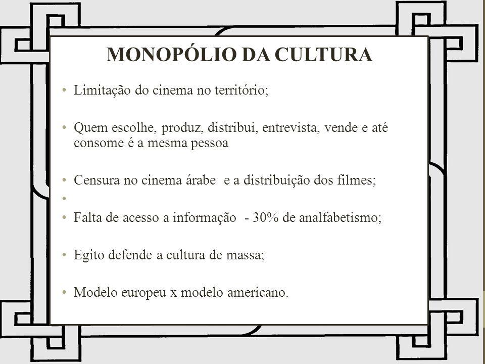 MONOPÓLIO DA CULTURA Limitação do cinema no território;