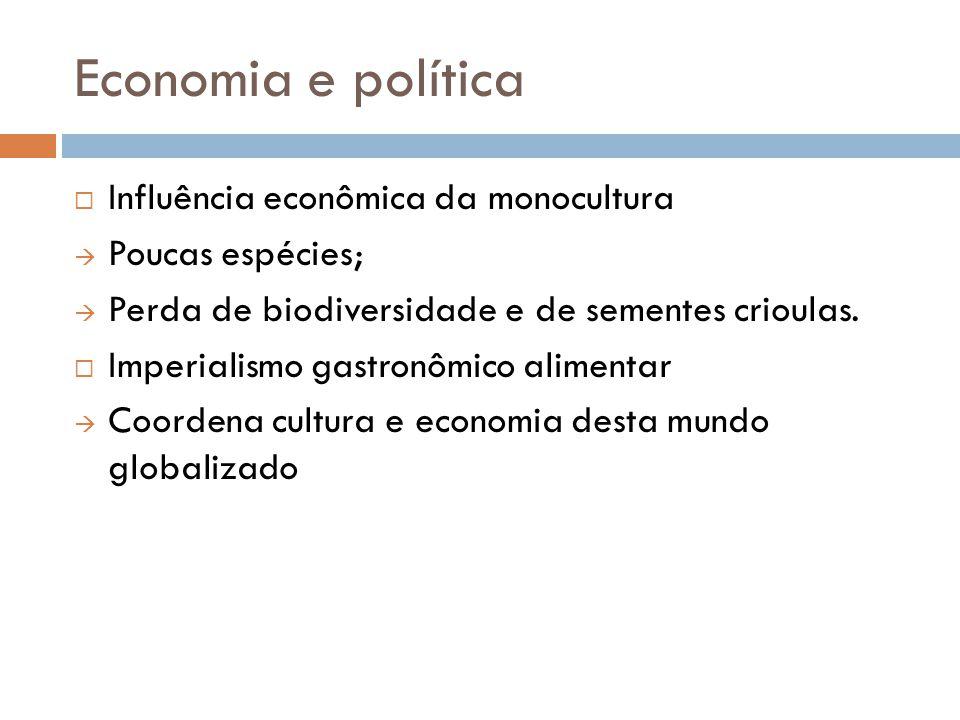 Economia e política Influência econômica da monocultura