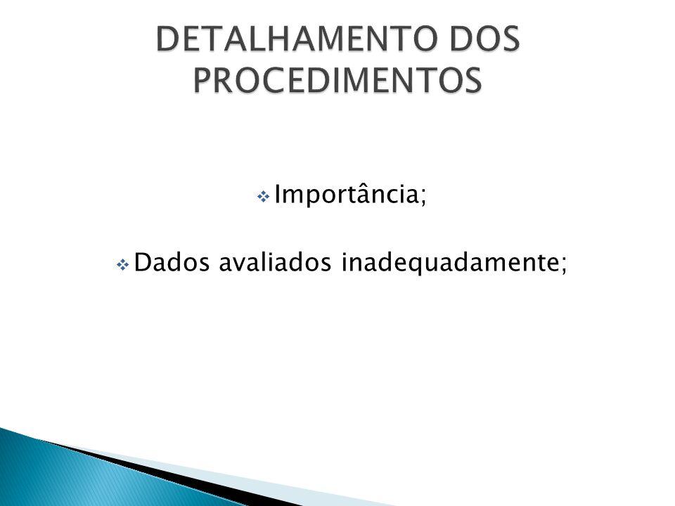 DETALHAMENTO DOS PROCEDIMENTOS