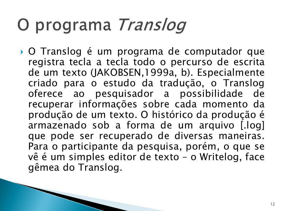 O programa Translog