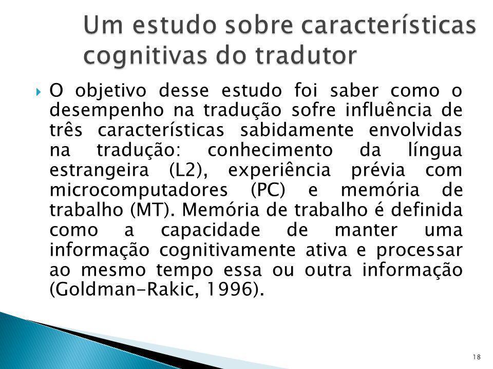 Um estudo sobre características cognitivas do tradutor