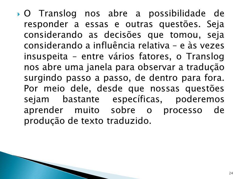 O Translog nos abre a possibilidade de responder a essas e outras questões.