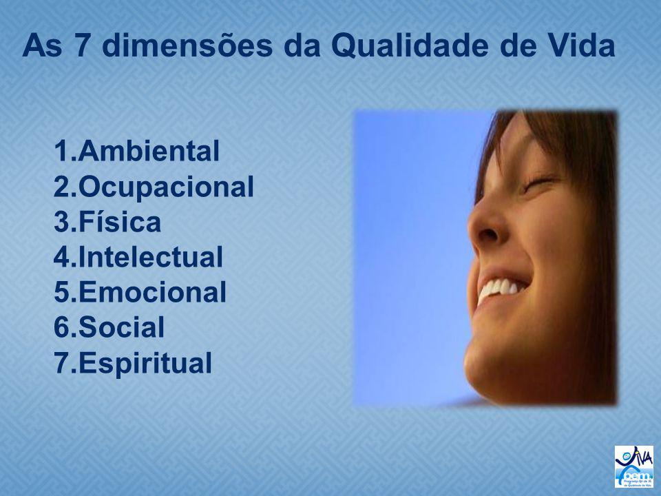As 7 dimensões da Qualidade de Vida