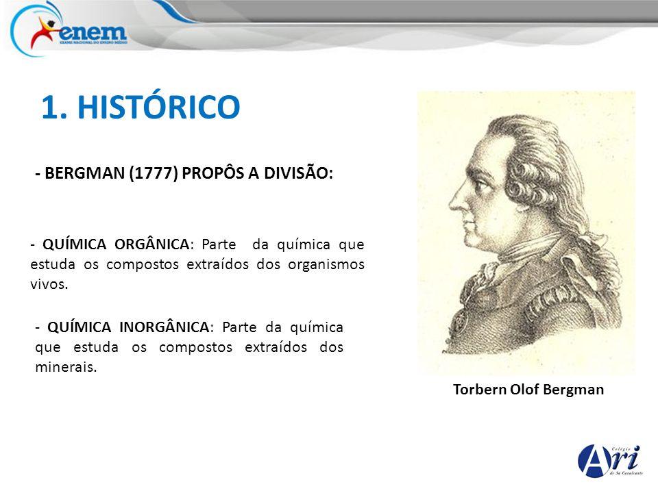 1. HISTÓRICO - BERGMAN (1777) PROPÔS A DIVISÃO: