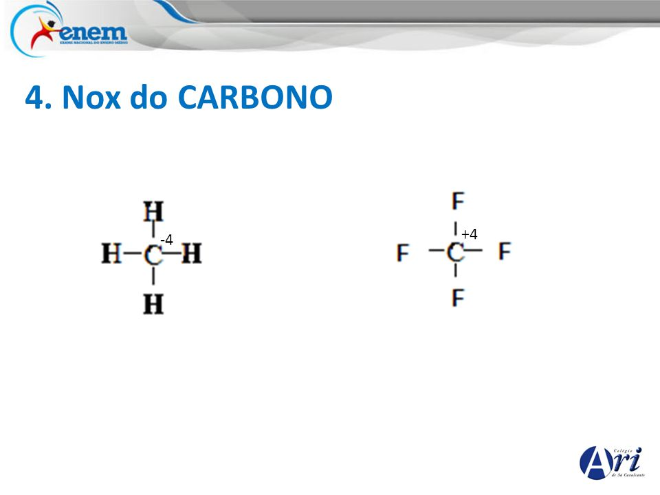 4. Nox do CARBONO +4 -4