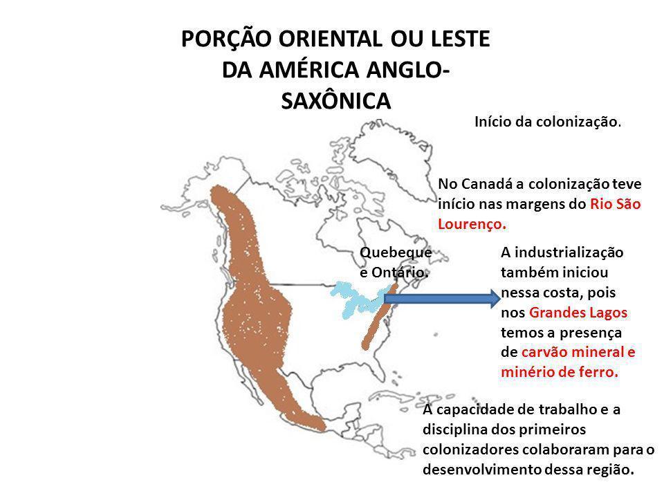 PORÇÃO ORIENTAL OU LESTE DA AMÉRICA ANGLO-SAXÔNICA