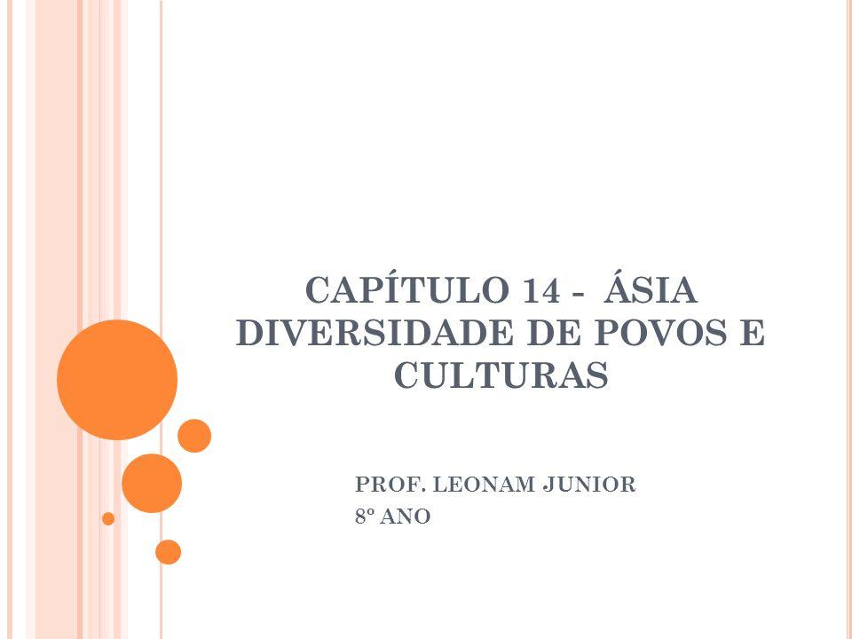CAPÍTULO 14 - ÁSIA DIVERSIDADE DE POVOS E CULTURAS