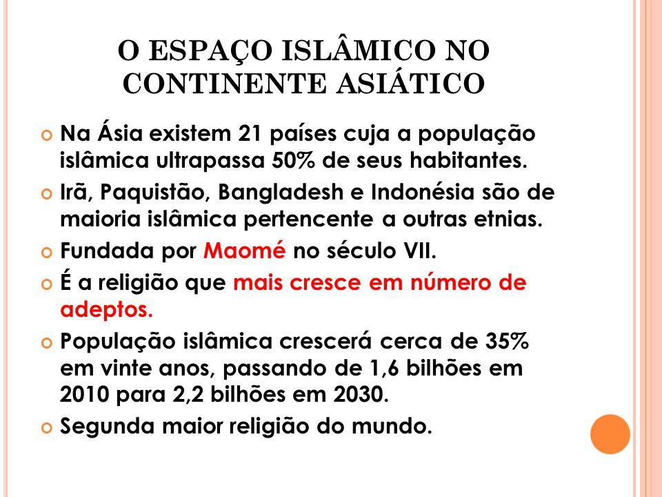 O ESPAÇO ISLÂMICO NO CONTINENTE ASIÁTICO
